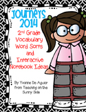 Journeys Vocabulary 2014 2nd Grade Word Sorts and Interactive Notebook Ideas