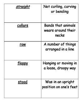Journeys Vocabulary Cards Lesson 1