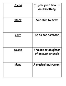 Journeys Vocabulary Cards Lesson 2