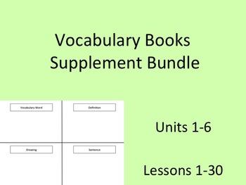 Journey's Vocabulary Books Bundle Units 1-6