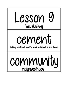 Journey's Vocabulary Cards- Kindergarten