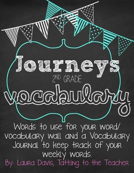 Journeys Common Core Vocabulary Cards and Journal