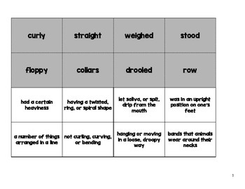 Journeys Vocabulary Cut and Paste Activities {Lessons 1-30}