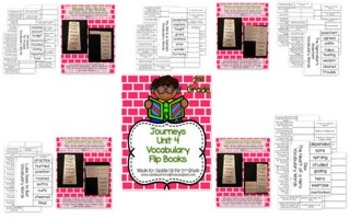 Journeys Vocabulary Flip Book BUNDLE: Units 4-6 2nd Grade