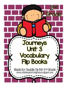 Journeys Vocabulary Flip Book: Unit 3 2nd Grade