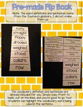Journeys Vocabulary Flip Book: Unit 5 2nd Grade