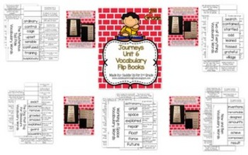 Journeys Vocabulary Flip Book Year Long BUNDLE: Units 1-6 2nd Grade