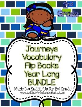 Journeys Vocabulary Flip Book Year Long BUNDLE: Units 1-6