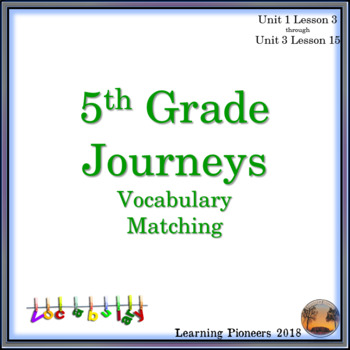 Journeys Vocabulary Matching Worksheet