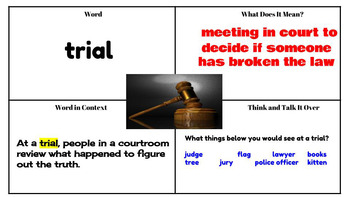 Journeys Vocabulary PowerPoint Lesson 2 The Trial of Cardigan Jones 3rd Grade