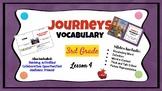 Journeys Vocabulary PowerPoint Lesson 4 Pop's Bridge 3rd Grade