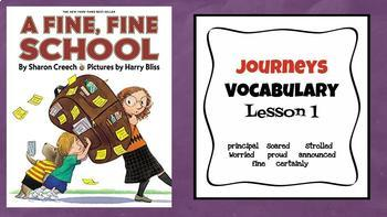 Journeys Vocabulary PowerPoint Unit 1 3rd Grade