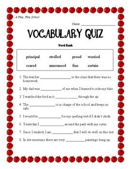 Journeys Vocabulary Quizzes Unit 1-3