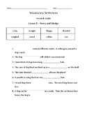 Journeys Vocabulary Sentences Grade 2