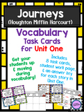 Journeys Vocabulary Task Cards for Unit One
