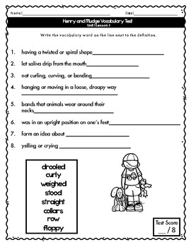 Journeys Vocabulary Tests 2nd Grade Unit 1
