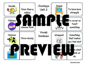 Journeys Vocabulary Unit 3 Lesson 11 Click Clack Moo Dominoes