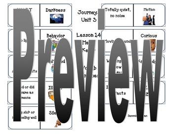 Journeys Vocabulary Unit 3 Lesson 14 Helen Keller Dominoes