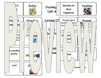 Journeys Vocabulary Unit 4 Lesson 17 Luke Goes to Bat Seco