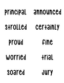 Journey's Vocabulary Words Grade 3 - Units 1 - 6