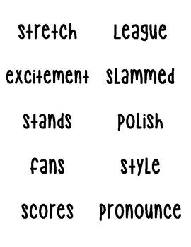 Journey's Vocabulary Words Grade 3 - Units 1 - 6