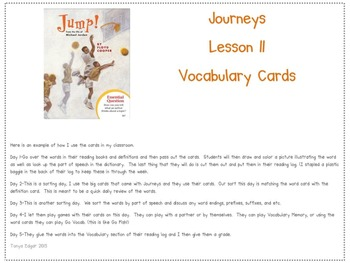 Journeys Vocabulary Words-Unit 3