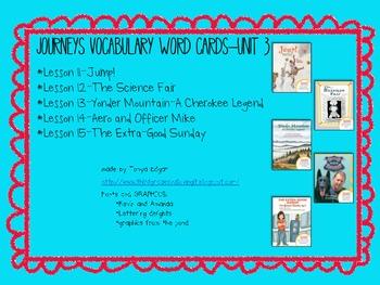 Journeys Vocabulary Words-Unit 3