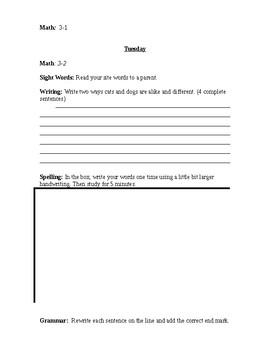 Journeys Week 3 Editable Homework Packet (Dogs!)