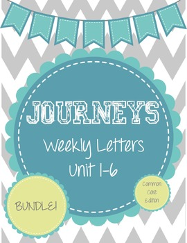 Journeys Weekly Letters Bundle: Lessons 1-30