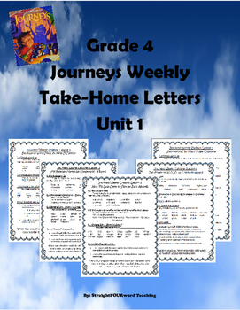 Journeys Unit 1: Weekly Parent Letters