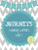 Journeys Weekly Letters: Lessons 1-5