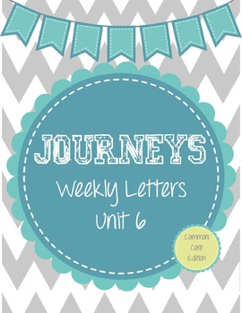 Journeys Weekly Letters: Lessons 26-30