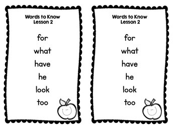 Journeys Weekly Sight Word Assessments: Lessons 1-15