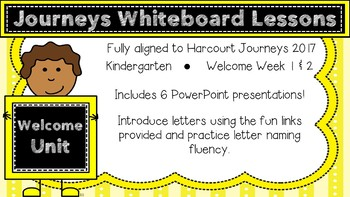 Kindergarten Journeys 2017 Welcome to Kindergarten Lessons
