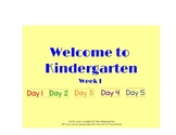 Journeys Welcome to Kindergarten Week 1