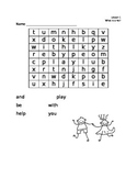Journeys 'What Is a Pal?'  HFW word search