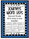 Journeys Word Lists Bundle - ALL Units