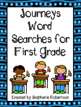 Journeys Word Searches Preview 1st, 2nd, 3rd, 4th, and 5th Grades