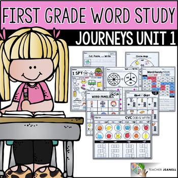 Word Study NO PREP (Journeys Phonics First Grade Unit 1 Supplemental Resource)