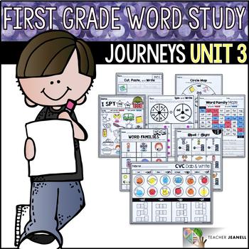 Word Study NO PREP (Journeys Phonics First Grade Unit 3 Supplemental Resource)