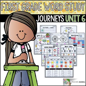 Word Study NO PREP (Journeys Phonics First Grade Unit 6 Supplemental Resource)