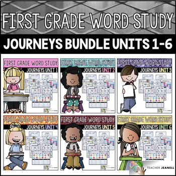Journeys Word Study First Grade Units 1-6 BUNDLE - Journeys Phonics