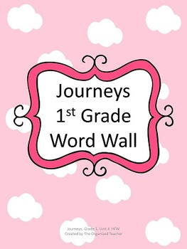 Journeys Word Wall, 1st Grade, Unit 4. Cloud Theme!