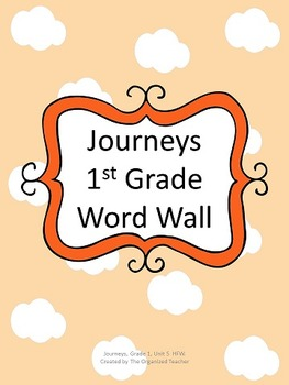 Journeys Word Wall, 1st Grade, Unit 5. Cloud Theme!