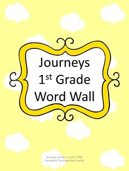 Journeys Word Wall, 1st Grade, Unit 6. Cloud Theme!