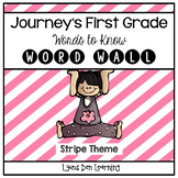Journey's Word Wall Cards - First Grade - Chevron