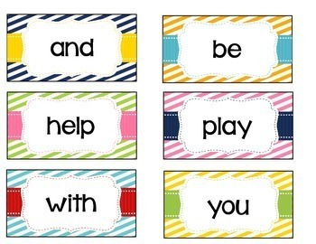 Journey's Word Wall Cards - First Grade - Stripes