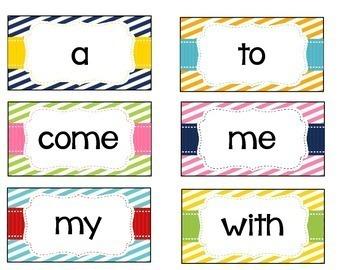 Journey's Word Wall Cards - Kindergarten - Stripes