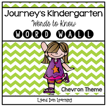 Journey's Word Wall Cards - Kindergarten - Chevron