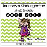 Journey's Word Wall Cards - Kindergarten - Chevron